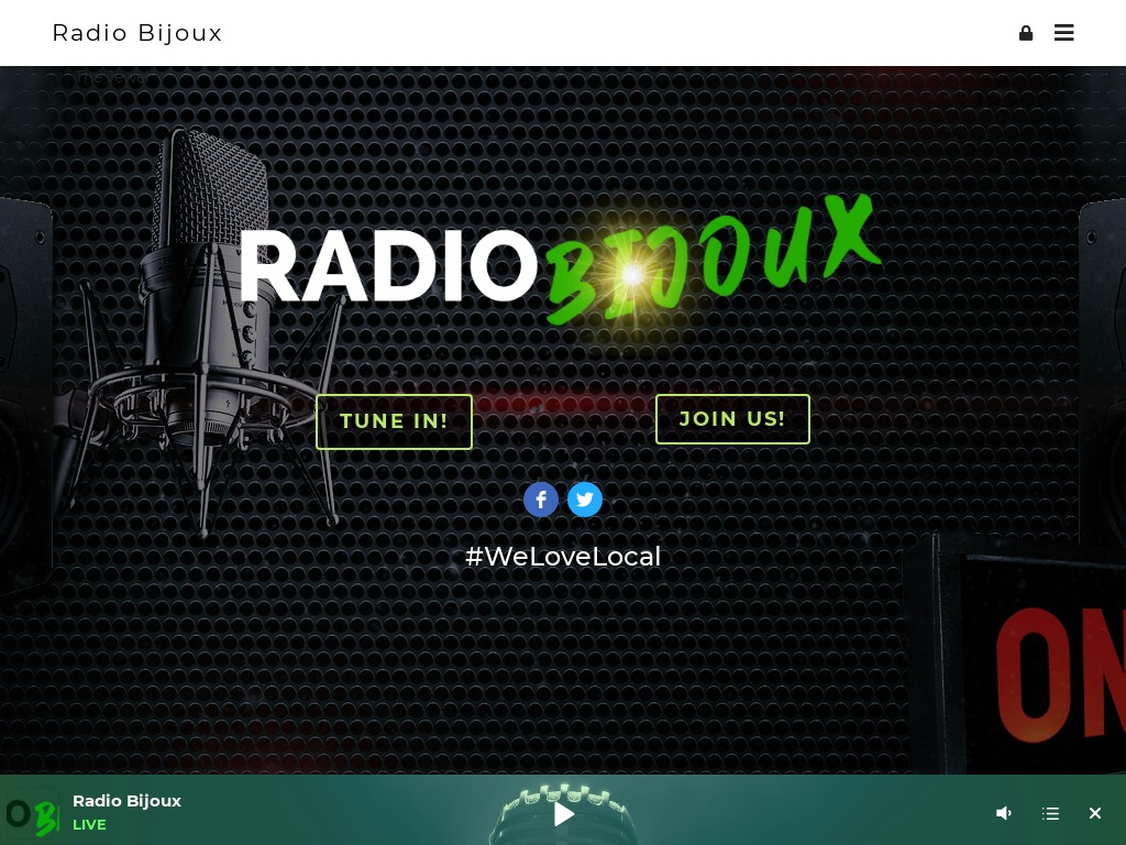 Radio Bijoux Website